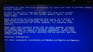 Синий экран смерти ошибка 0x0000007E