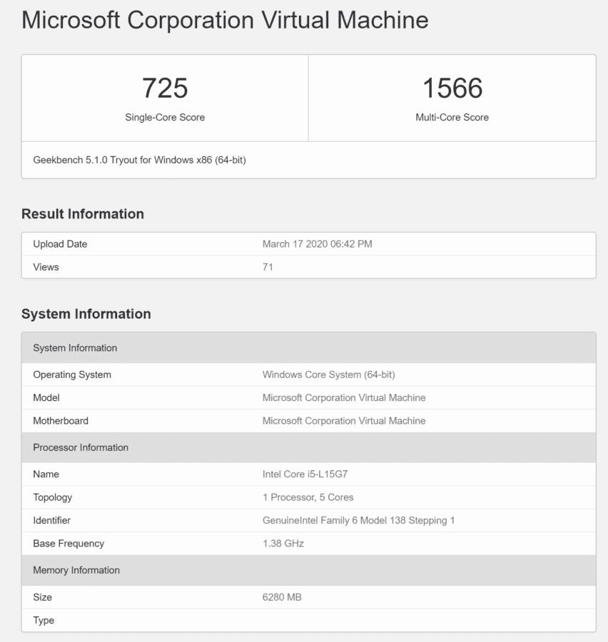 ОС Windows Core появилась в новом тесте