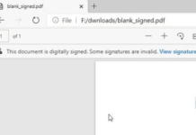 Edge теперь может проверять PDF-файлы с цифровой подписью